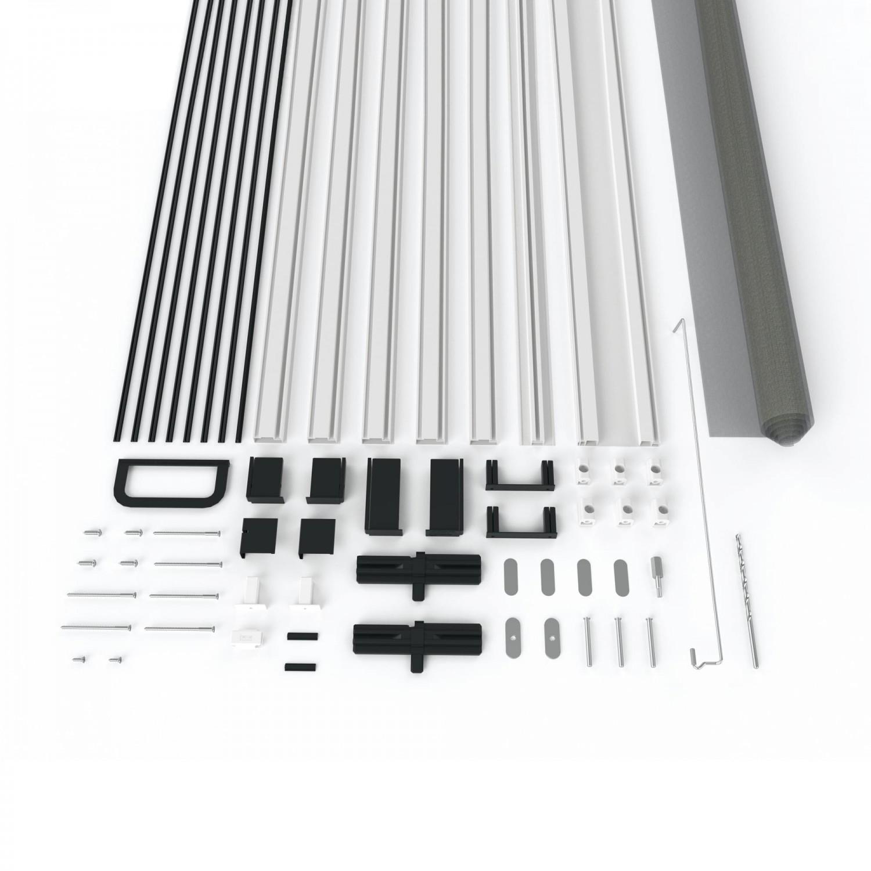 xtra alu plus fliegengitter t r 100 x 210 cm mit scharnierkleber ohne bohren. Black Bedroom Furniture Sets. Home Design Ideas
