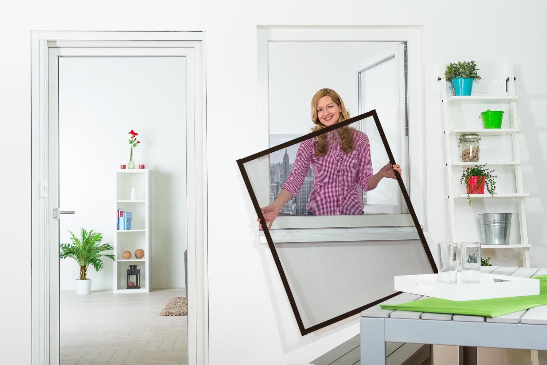 insektenschutz fliegengitter fenster alurahmen profi qualit t slim neu ebay. Black Bedroom Furniture Sets. Home Design Ideas