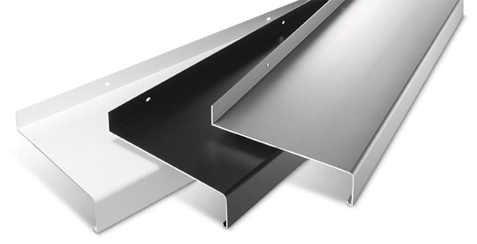 aluminium fensterbank fensterbrett ausladung 360 mm zuschnitt anthrazit silber ebay. Black Bedroom Furniture Sets. Home Design Ideas