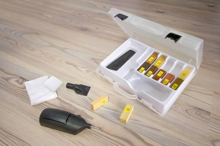 laminate parquet furniture repair kit wood floor repair repair set 18 pieces ebay. Black Bedroom Furniture Sets. Home Design Ideas
