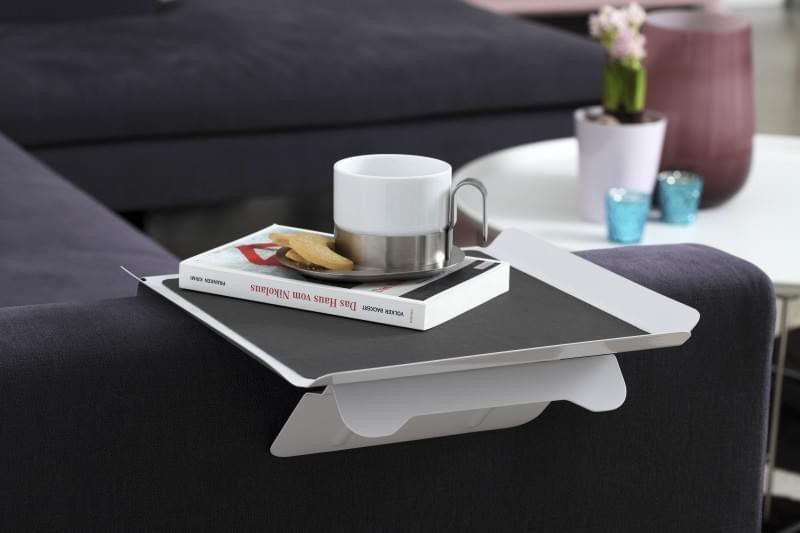 Sofa butler side table terminal tablet clamping table for Sofa butler