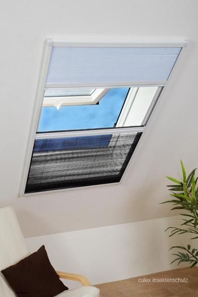 alu kombiplissee dachfenster sonnenschutz fliegengitter plissee 80 x 160 cm neu ebay. Black Bedroom Furniture Sets. Home Design Ideas