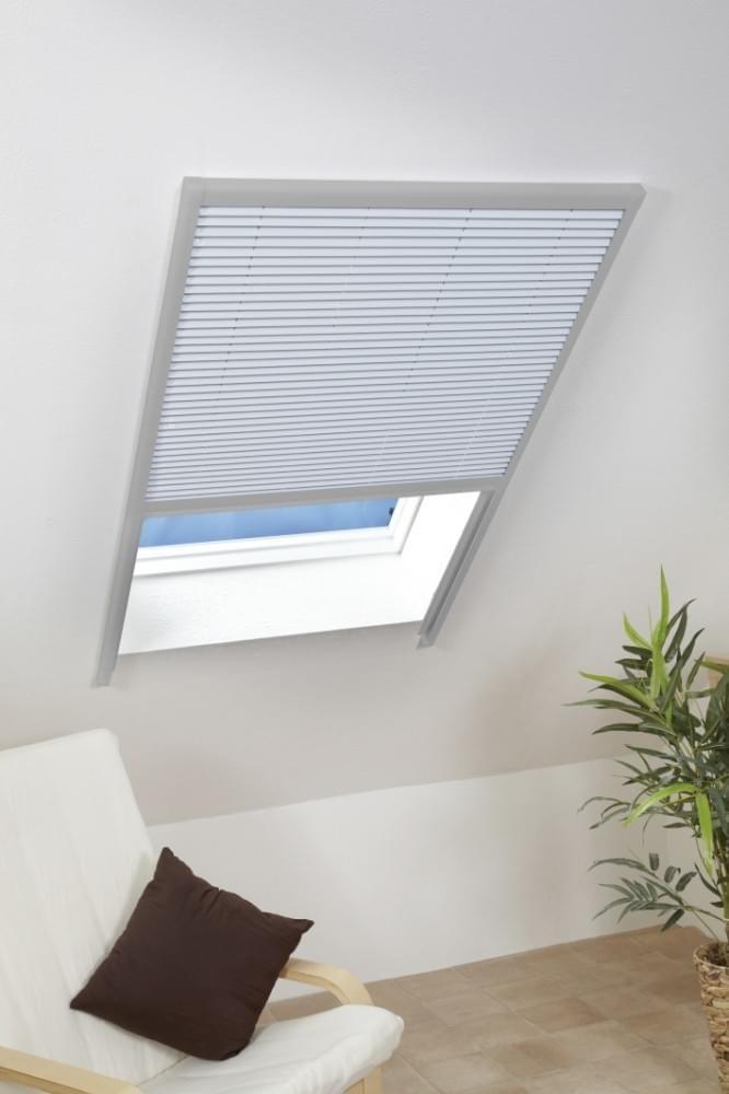 dachfenster sonnenschutz plissee w rmeschutz hitzeschutz 110 x 160 cm silber neu ebay. Black Bedroom Furniture Sets. Home Design Ideas