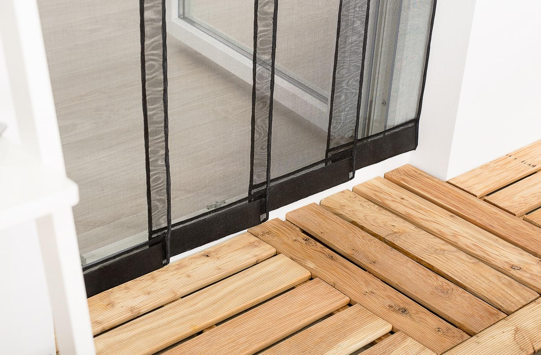 insektenschutz lamellenvorhang f r t ren t rvorhang polyester 100 x 220 cm schwa ebay. Black Bedroom Furniture Sets. Home Design Ideas